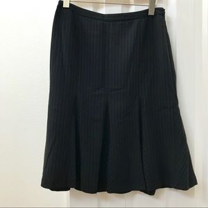 Ann Taylor Skirts - Ann Taylor fit and flare black pinstripe skirt